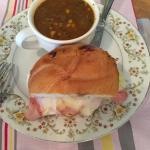 Italian sandwich with Pork soup