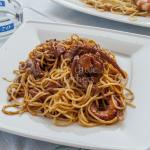 Octopus with spaghetti - World famous