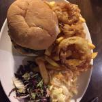The Berwick special burger old salad warm coleslaw, burger in a dry bun!