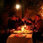 Dining at night