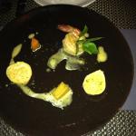 Prawn Ravioli potato carrot