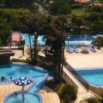 Vista geral das piscinas