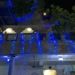Fairy lights on the roof terrace