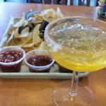 Summer Margarita and chips and salsa...Yummm