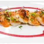 Vieras a la Plancha ~ Grilled Sea scallop, roasted beets sauce