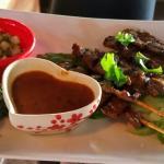 Beef Satay Appetizer.