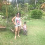 Natureza exuberante! Eu e me filho apreciando o viveiro