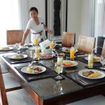Breakfast being prepared by wonderful staff