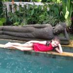 Nellie enjoying the pool in Villa 5!