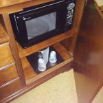 Microwave in room.