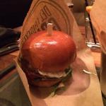 Lamb burger needs more yogurt sauce