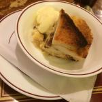 Bread & butter pudding with icecream.