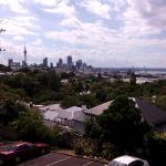 View from our balcony over Auckland.