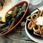Mussels and calamari