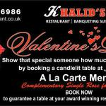 bookings now being taken for valentines day !!