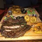 Lion-size Ribeye steak from Shebeen. Delicious!