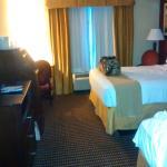 hotel room, nice and roomy!