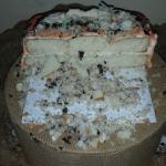Cake crumbled when cut.