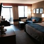 Hotel room facing Hudson River