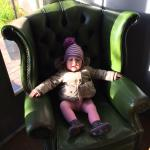 Our daughter enjoying the throne