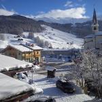 Widok z pokoju na teren narciarski Mottolino