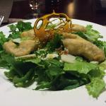 La Farola's signature salad, with fried sea bass