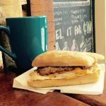 Homemade Sausage Breakfast Sandwich
