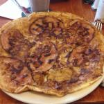 Bacon and apple pancake,yummy