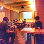 Watching World Cup in the bar.. :) Ages ago.