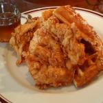 Artie's Brunch Chicken and Waffles with Bourbon Maple Bacon Syrup