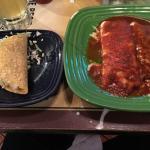 Combo #3, an age old favorite.  Taco, burrito, enchilada.