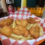 Shrimp and Chips (with imported Malt Vinegar