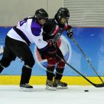 Storms vs Dubai ladies hockey game in Abu Dhabi Ice Rink taken by Fatima Al Ali