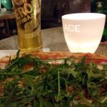De pizza en het bier