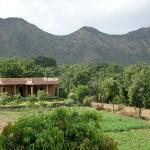 Krishna Ranch surrounded by the Arravalis
