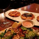 Pizza and salad with Sangria