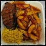 Peri Peri Sirloin Steak, Urban Fry Wedges & Creamy Corn