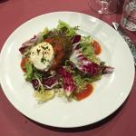 Aubergine (Eggplant) and Goat Cheese Salad