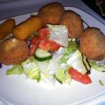 Breaded mushrooms, with cheese