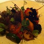 my starter: herbs, fruit and vegetable salad