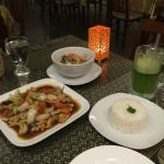 lemon lassi and chicken with cashew