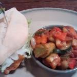 Burger and veg