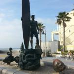Statue in downtown Imperial Beach waterfront