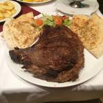 This T-bone was massive but so flavourful