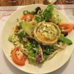 Entrée : petite salade bergère