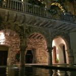 Ground floor and courtyard pool with 16th century archways on 1st and colonial style 2nd floor
