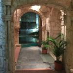 Entryway from front entrance of Casa Pombo to central court