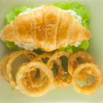 Chicken Salad Sandwich with Onion Rings