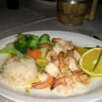 Shrimp in garlic sauce