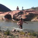 Time to cool off at Pink Rocks